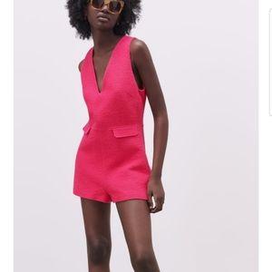 Zara L jumpsuit jumper short pink